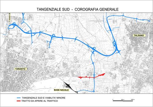 corografia generale Tangenziale Sud Taranto